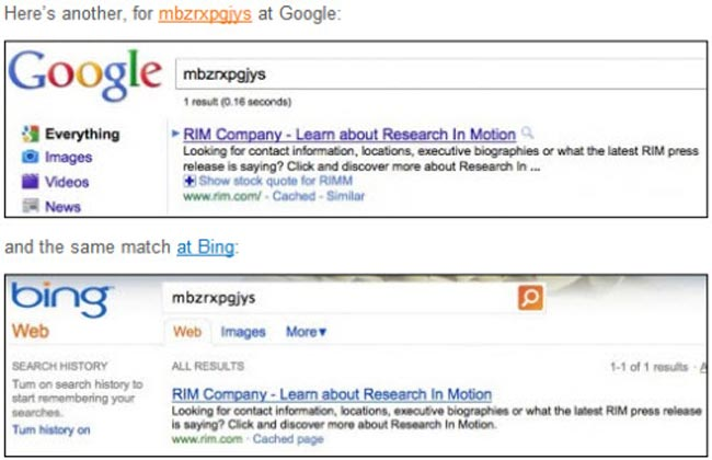 Google Accuses Bing Of Copying Search Results