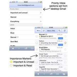 Google Mobile Gmail Web