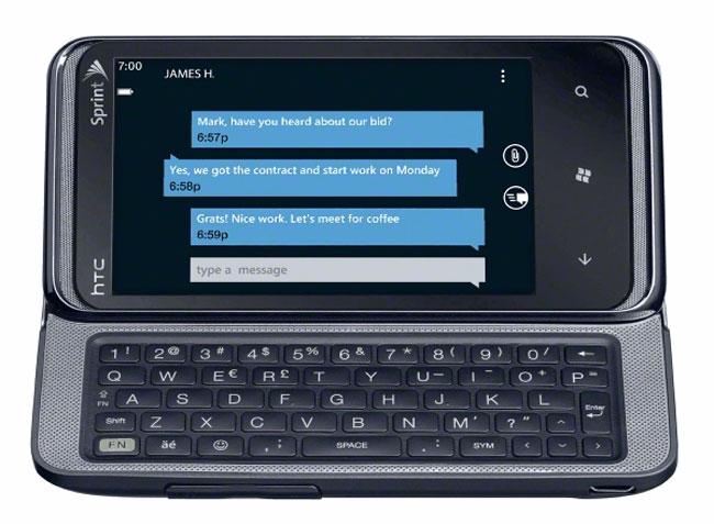 HTC Arrive, Sprint's First Windows Phone 7 Smartphone