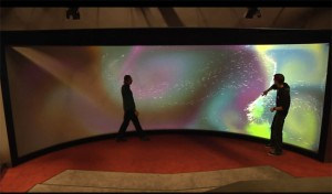 Massive Curved Multi-Touch Screen (video)