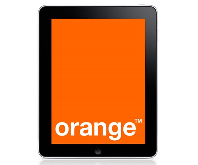 Orange iPad