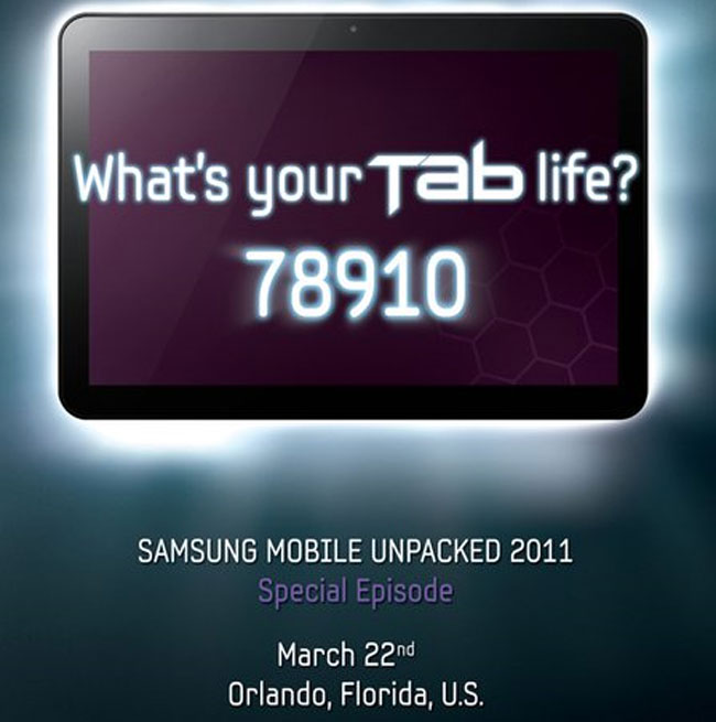 Samsung To Announce 8.9 Inch Galaxy Tab