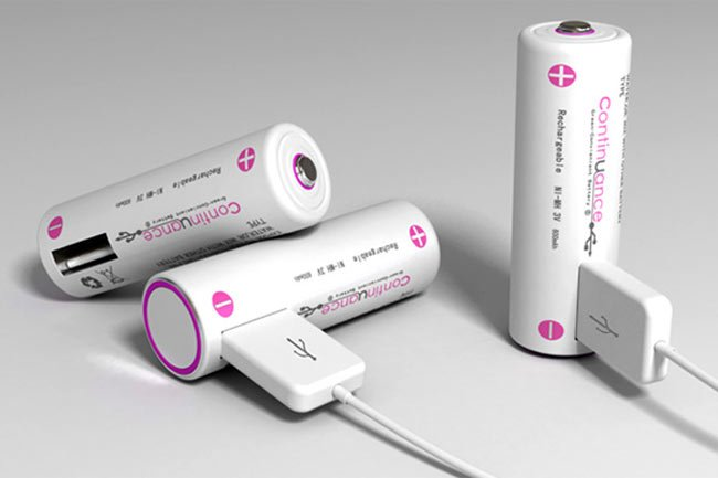 Continuance Rechargeable USB Batteries