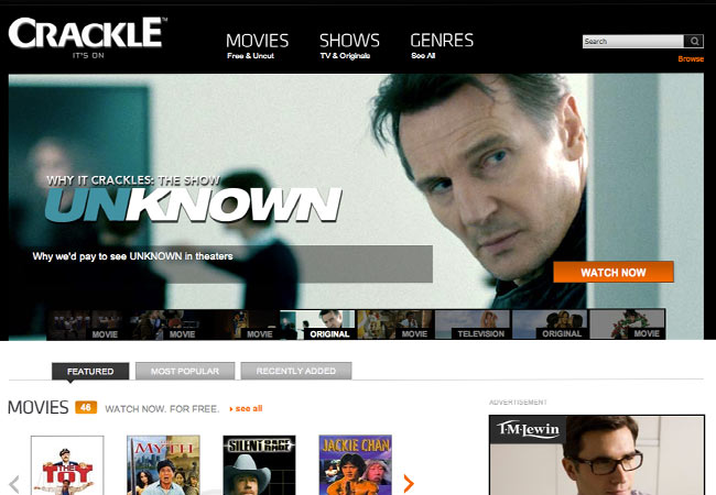 sony crackle free movies