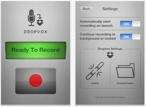 DropVox App for iOS Records Voice Notes Directly To Dropbox