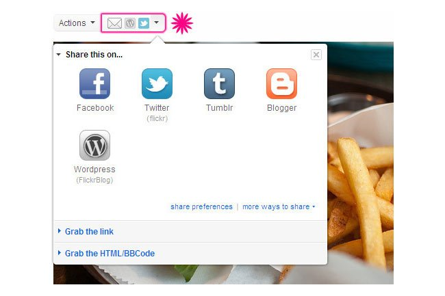 Flickr Social Sharing Buttons