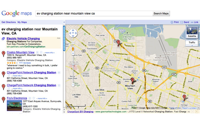 Google Maps Updated With EV Charging Stations