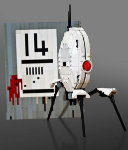 Portal Turret Sentry Recreated In Lego