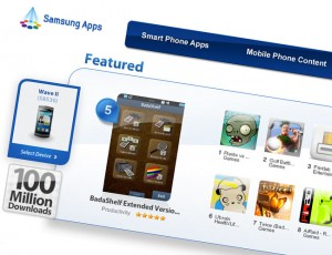 Samsung's App Store Passes 100 Million Downloads, With 13,000 Apps