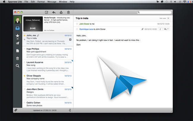 Sparrow Email Client