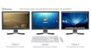 Synergy Shares One Keyboard And Mouse Across Multiple Computers Over A Network