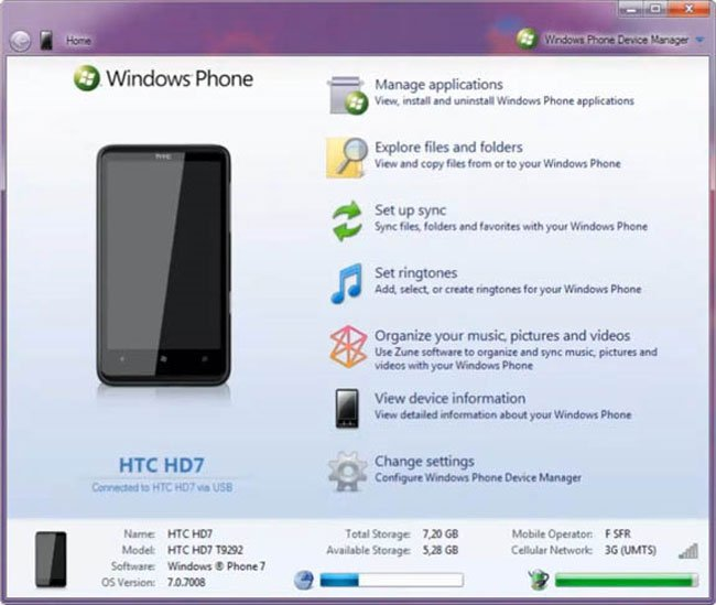 Windows Phone 7 Homebrew Device Manager