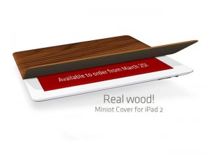 Real Wood iPad 2 Cover By Miniot (video)