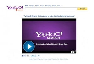 Yahoo Introduces Search Direct