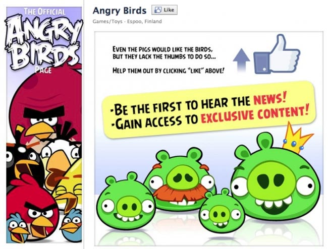 Angry Birds Headed To FaceBook