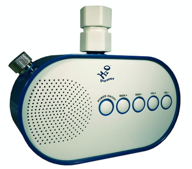 H20 shower Powered Radio