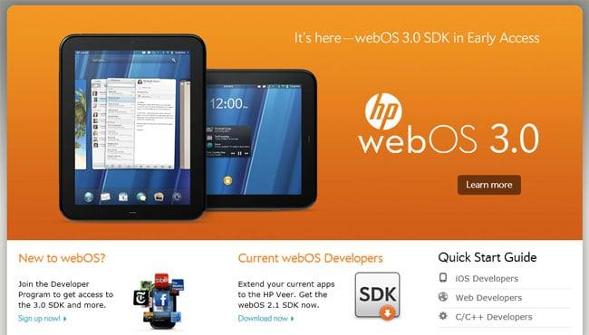 HP webOS 3.0 SDK