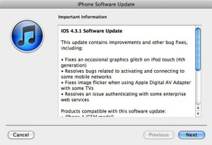 Apple Releases iOS 4.3.1 Software Update