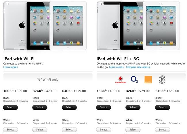 iPad 2 UK