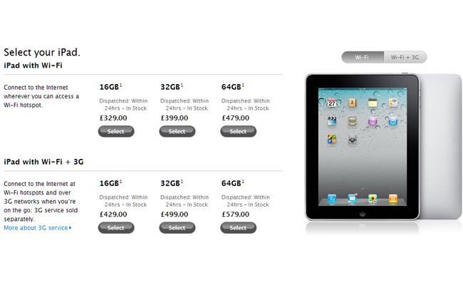 iPad UK Price Drop