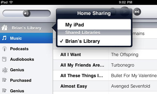 iTunes Home Sharing In iOS 4.3