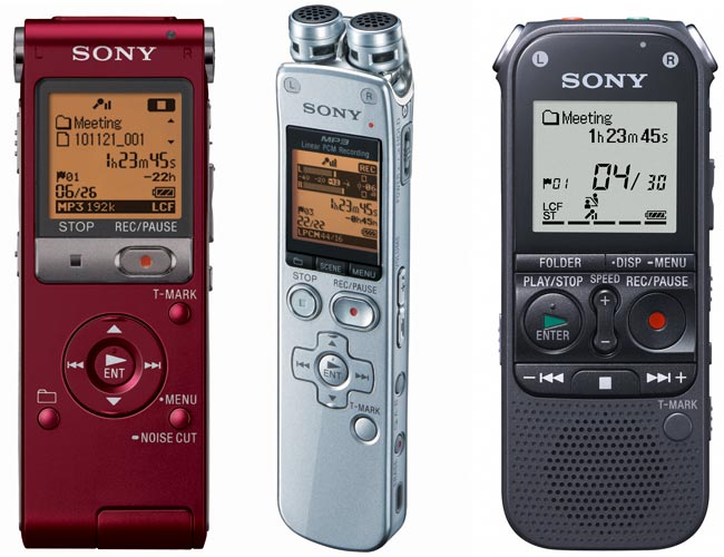 Sony Launches New Voice Recorders