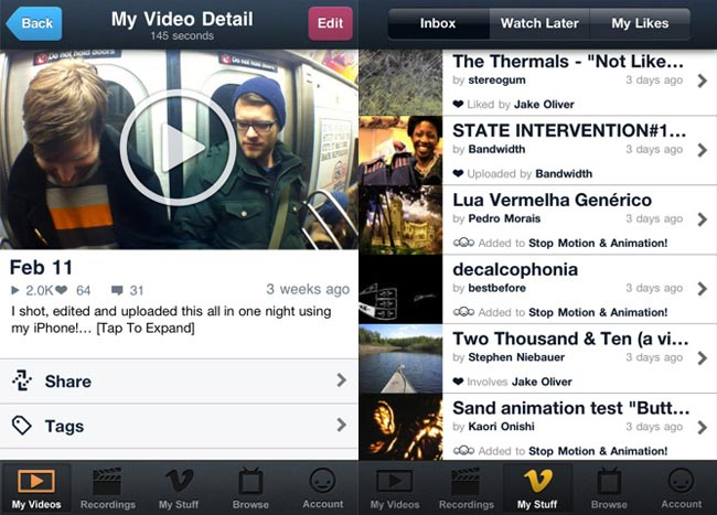 Vimeo iPhone App