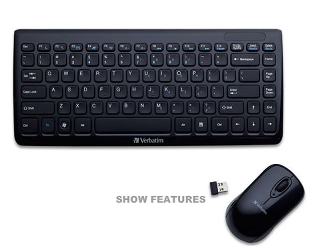 Mini Wireless Slim Keyboard & Mouse
