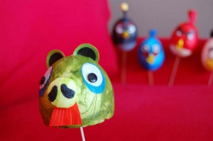 DIY Angry Birds Easter Eggs