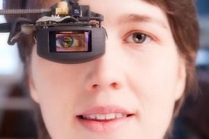 Terminator Style Eye-Tracking OLED Microdisplay Provides Augmented Reality Data