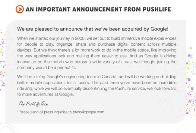 Google Buys PushLife For Google Music