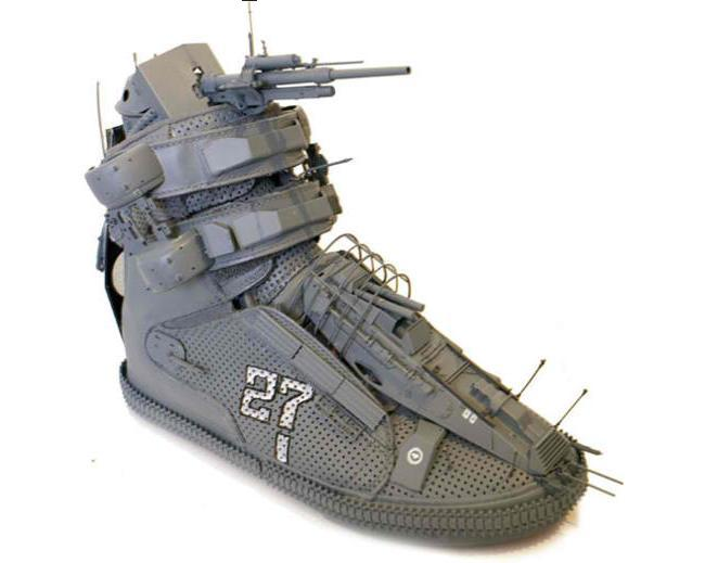 Battleship Shoe Is Ready For War