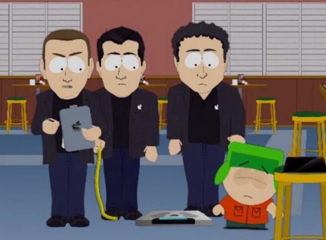South Park Apple tracking