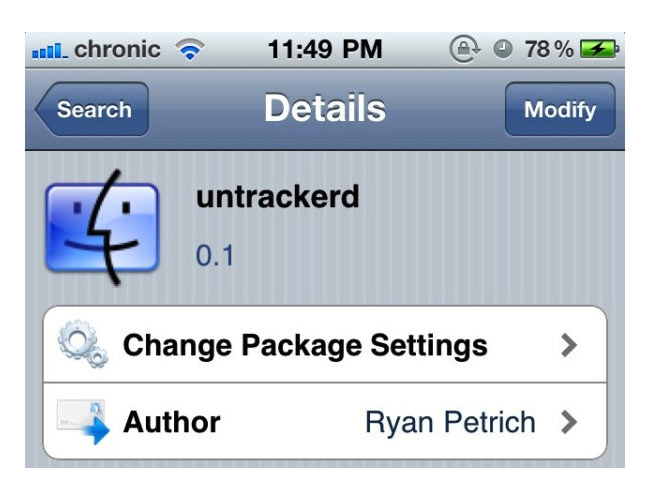 Untrackerd App Stops iOS GPS Storing Tracking Data On Your iPhone Untrackerd
