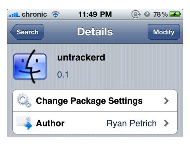 Untrackerd