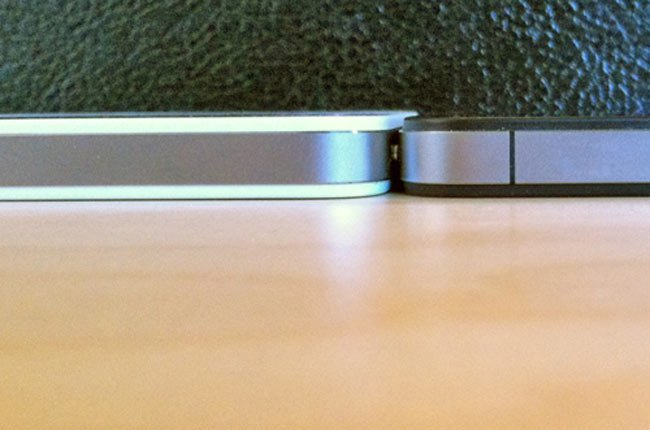 White iPhone thickness
