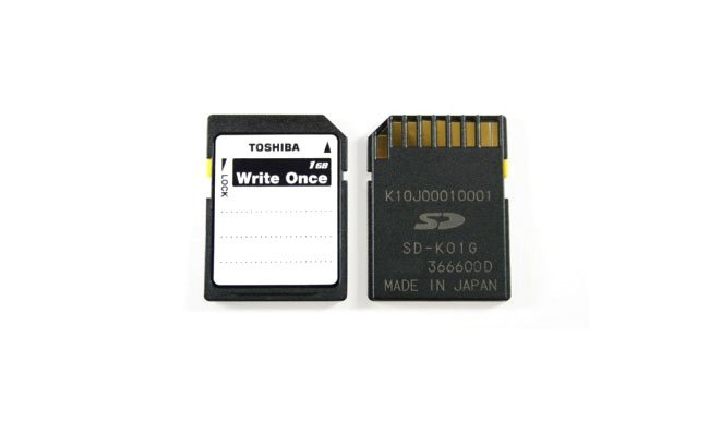 Write-Once SD card