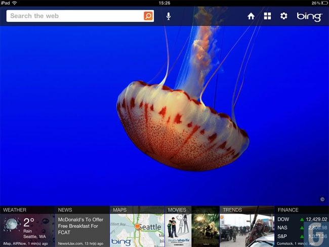 Microsoft Bing iPad App