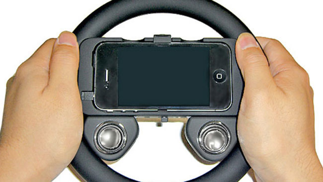 iPhone Steering Wheel