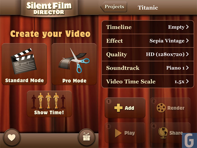 Silent Film Director App