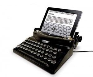 The Typescreen Retro Typewriter iPad Dock