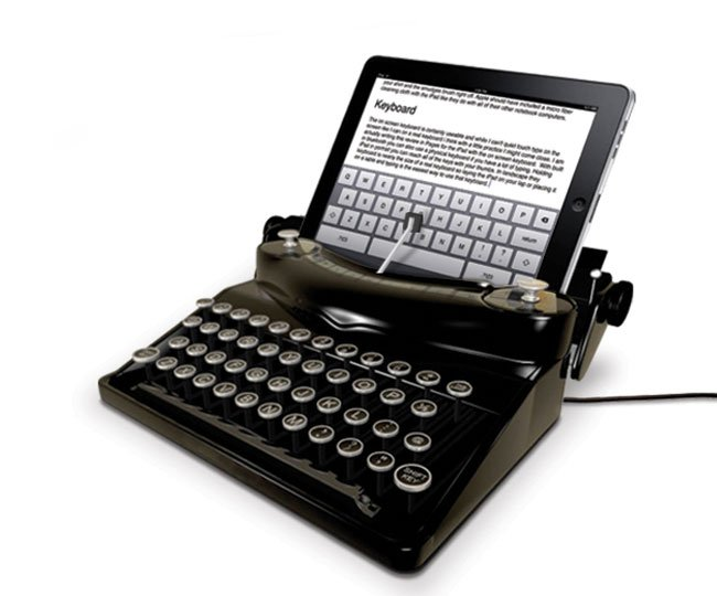 The Typescreen Retro Typewriter iPad Dock