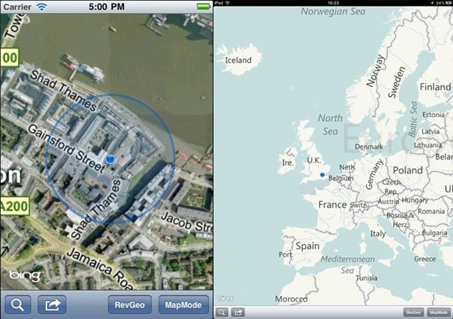 Bing Maps SDK For iOS