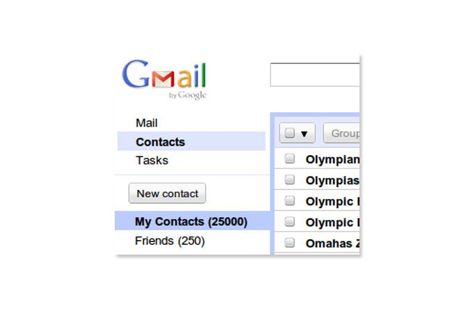 Gmail Contact Limit 25000