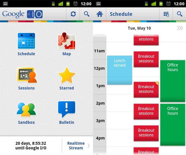 Google I/O 2011 Android App