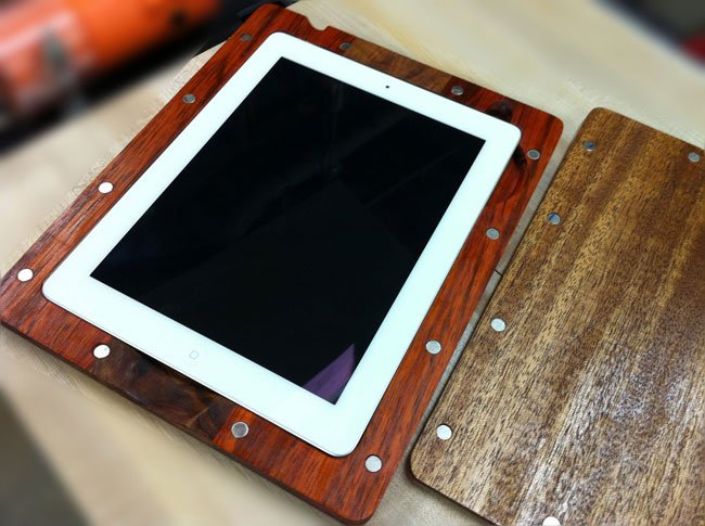 Handmade Wooden iPad 2 Case