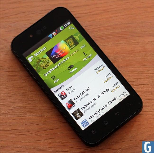 LG Optimus Android Market