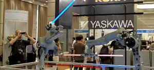 Robot Lightsaber Duel Is Awesome Beyond Words
