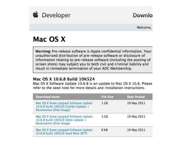 Mac OS X 10.6.8