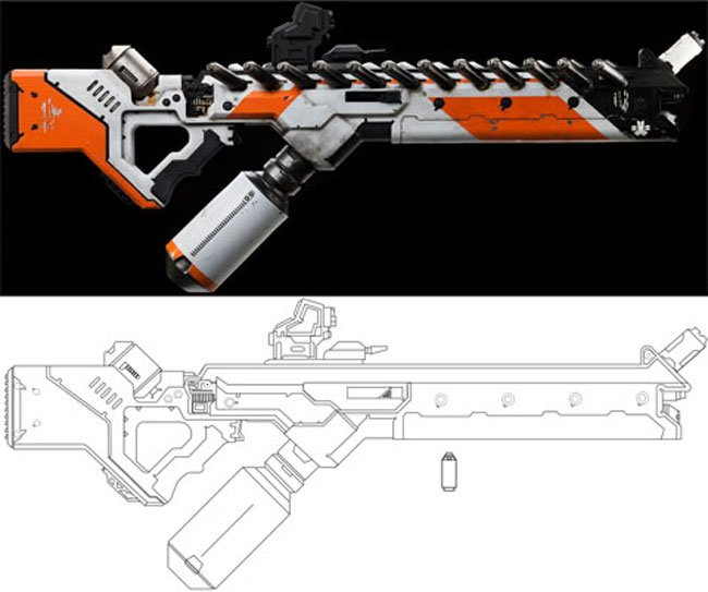 Awesome Full Sized Papercraft District 9 Gun